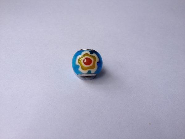 1 Blue glass charm