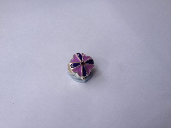 1 Purple flower charm