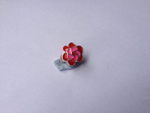 1 Red and Pink charm