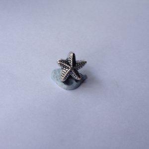 1 Metal starfish charm
