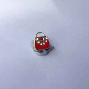 1 Red handbag charm