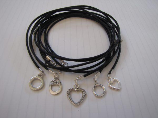 5 Black cords ready-made