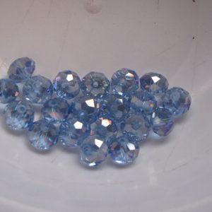 20 Light blue rondelles