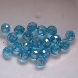 20 Aqua rondelles