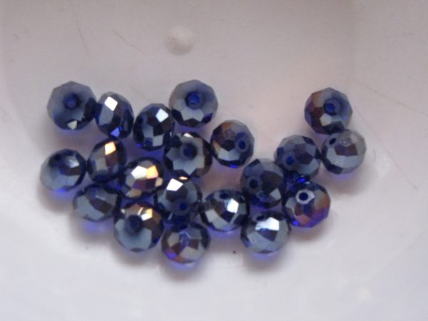 20 Dark blue rondelles