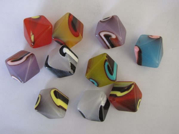 10 Large beads 26x20mm