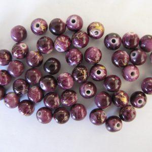 50 Dark purple 10mm rounds