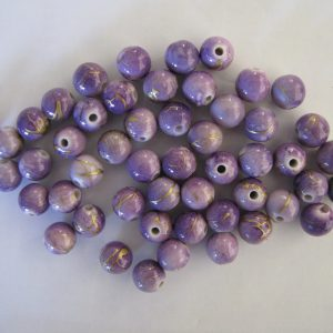 50 Light purple 10mm rounds