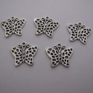 5 Butterfly pendants