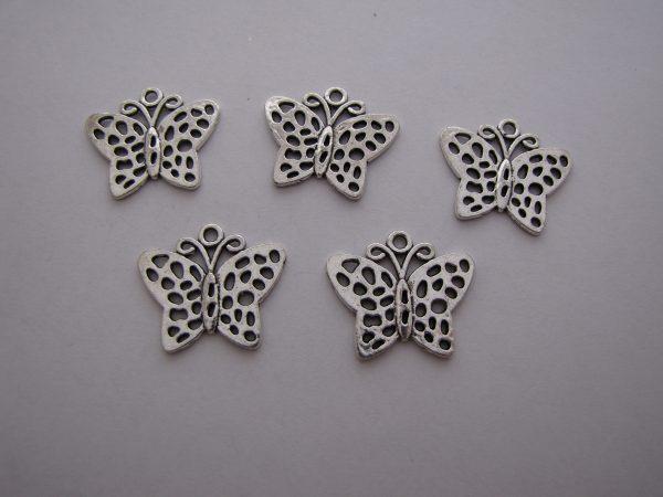 5 Butterfly pendants