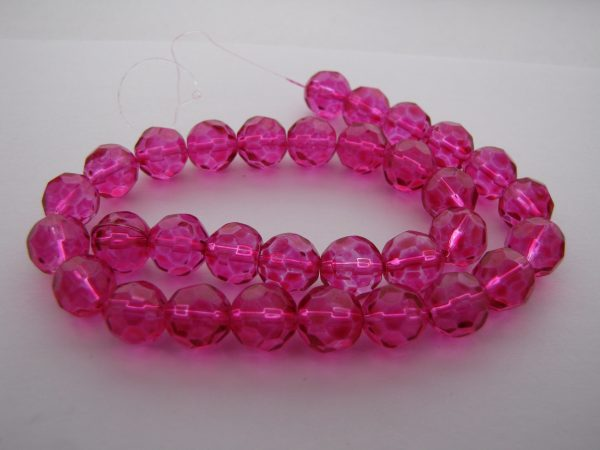 Pink faceted beads 1 Strand