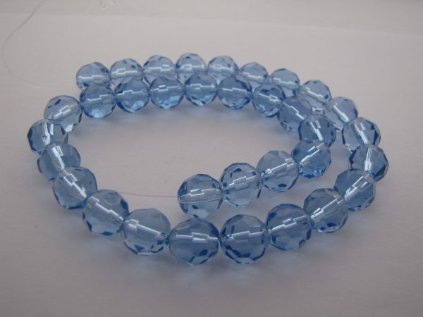 Blue faceted beads 1 Strand