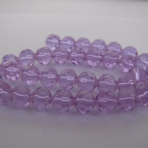 Purple faceted beads 1 Strand