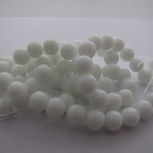 white beads 8mm 2 Strands