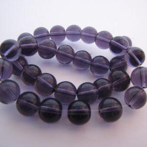 Purple smooth beads 1 Strand