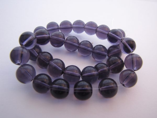 Purple smooth beads 1 Strand