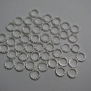 50 Metal rings 8mm