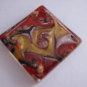 Red and Yellow Glass Pendant