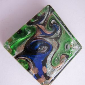 Green and blue glass pendant