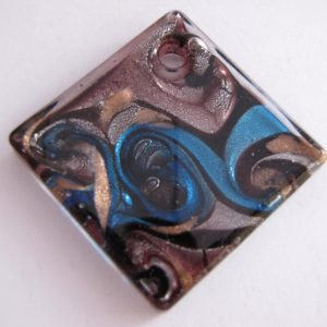 Purple and blue glass pendant