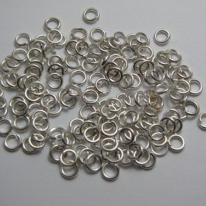 Jump rings silver metal 5mm