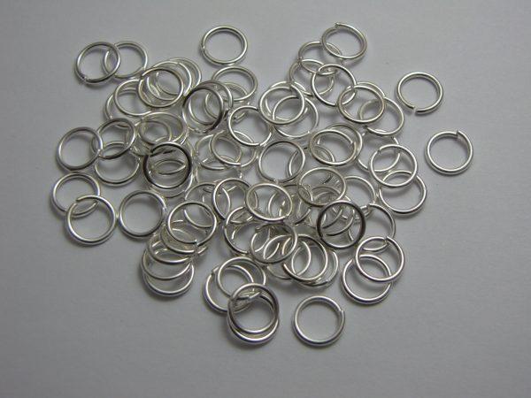 Jump rings silver metal 8mm