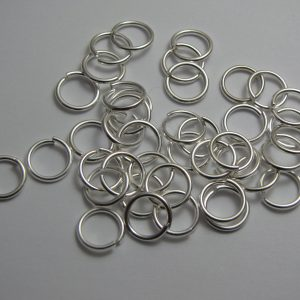 Jump rings silver metal 10mm