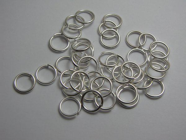 Jump rings silver metal 10mm