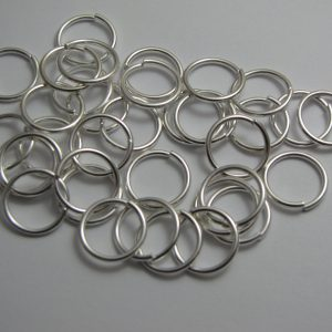 Jump rings silver metal 12mm