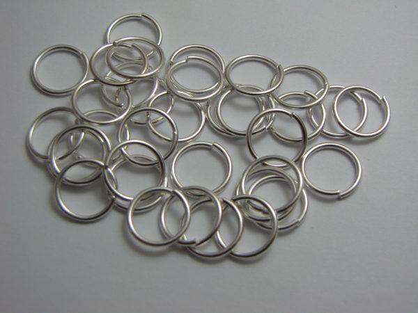 Jump rings silver metal 12mm
