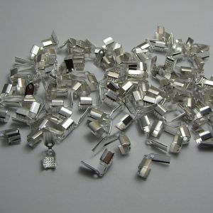 100 Silver clamps 10x4mm