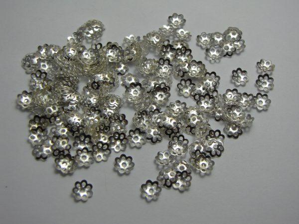 200 Bead caps 6mm