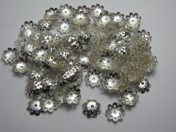 200 Bead caps 11mm
