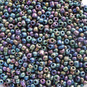 Rainbow seed beads 3mm