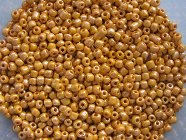 Orange seed beads 3mm