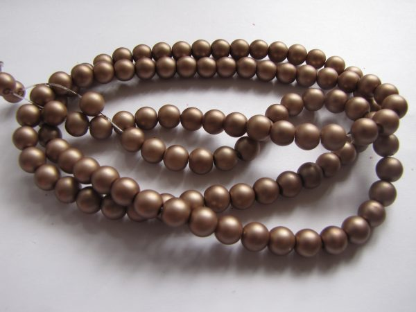 Brown smooth painted 8mm