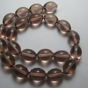 Grape oval glass beads