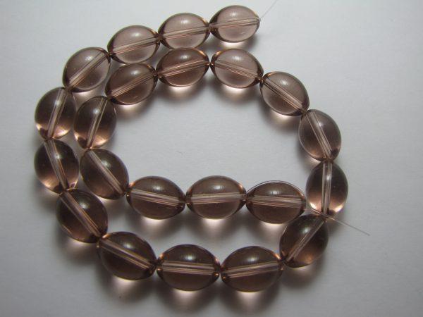 Grape oval glass beads