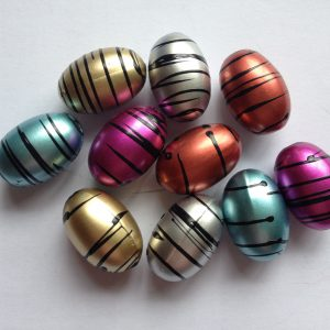 10 Oval beads mixed colour