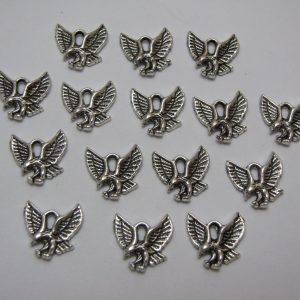 15 Silver metal eagle charms