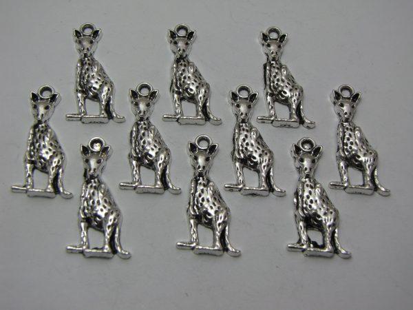 10 Silver metal kangaroo charms