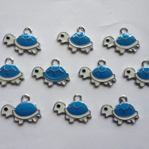 10 Coloured turtle charms