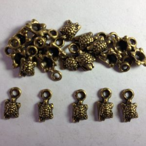 20 Bronze metal turtle charms